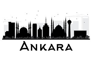 Ankara City skyline silhouette