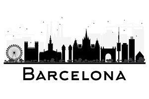 Barcelona City skyline silhouette