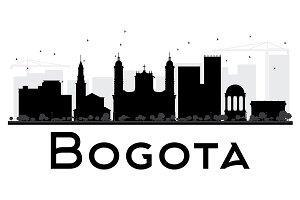 Bogota City skyline silhouette