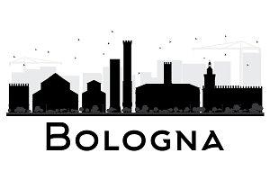 Bologna City skyline silhouette
