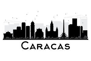 Caracas City skyline silhouette