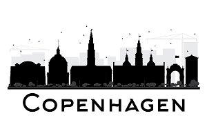 Copenhagen City skyline silhouette