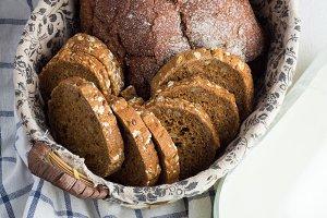 bread,milk closeup
