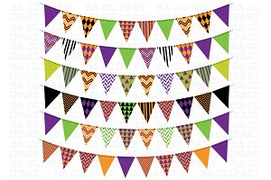Halloween Bunting Banner Clipart