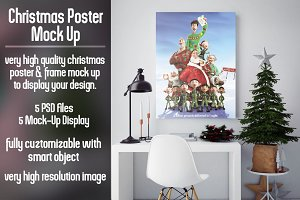 Christmas Poster Mock Up