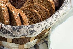 bread,towel and milk