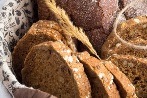 bread closeup on a table