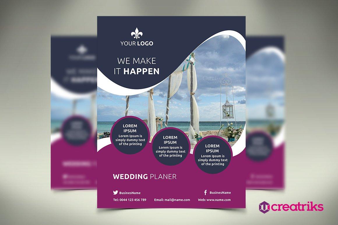 Wedding Service Flyer Flyer Templates on Creative Market – Wedding Flyer