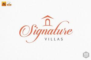 Signature Villa Logo Template