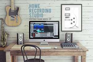 Home Recording Studio Mockup Bundle