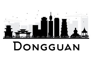 Dongguan City skyline silhouette