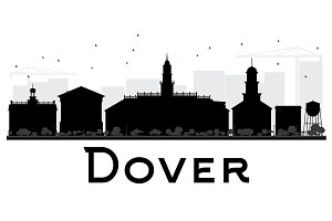Dover City skyline silhouette