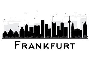 Frankfurt City skyline silhouette
