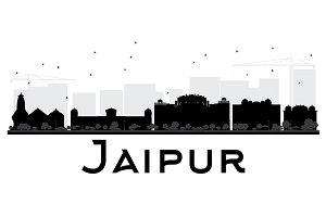 Jaipur City skyline silhouette