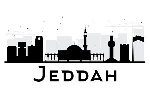 Jeddah City skyline silhouette