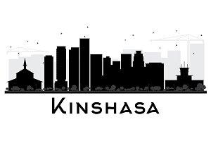 Kinshasa City skyline silhouette