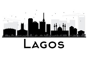 Lagos City skyline silhouette