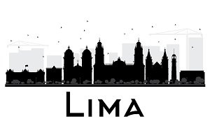 Lima City skyline silhouette