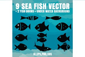 9 SEA FISH VECTOR + 2 BONUS