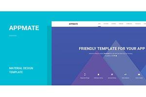 Material Design App Landing Template