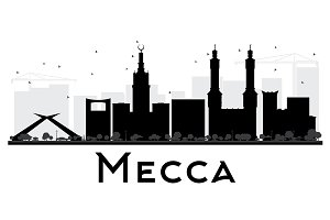Mecca City skyline silhouette