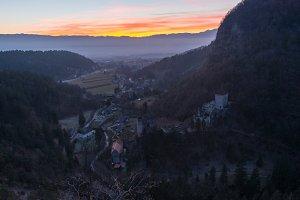 Castle Kamen at sunset
