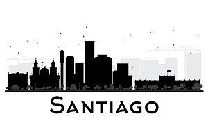 Santiago City skyline silhouette
