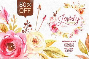 50%OFF! Lovely Flowers collection.