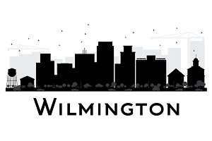 Wilmington City skyline silhouette
