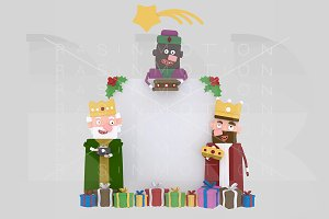 3d illustration. Magic Kings banner.