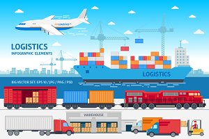Delivery & logistics infographic