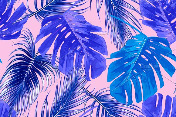 tropical jungle leaves pattern patterns creative daddy