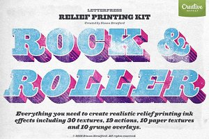 Rock & Roller Letterpress photoshop
