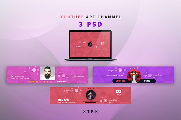 YouTube Templates - Youtube Art Channel
