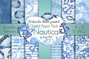 Nautical Digital Paper Pack