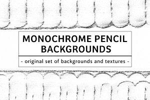 49 MONOCHROME PENCIL BACKGROUNDS