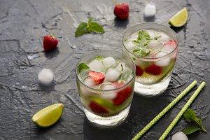 Refreshing summer cocktail