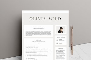 5 page Resume Template | Ultra Chic