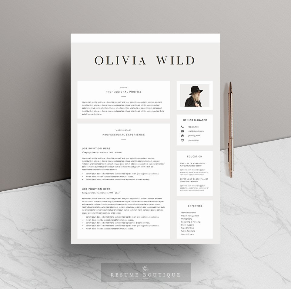 Photo Page: Ultra Chic ~ Resume Templates
