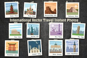 Vector Travel Instant Photos