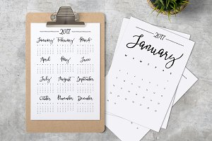 Calendar 2017 A4 Minimalistic