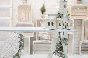 Merry christmas loft background