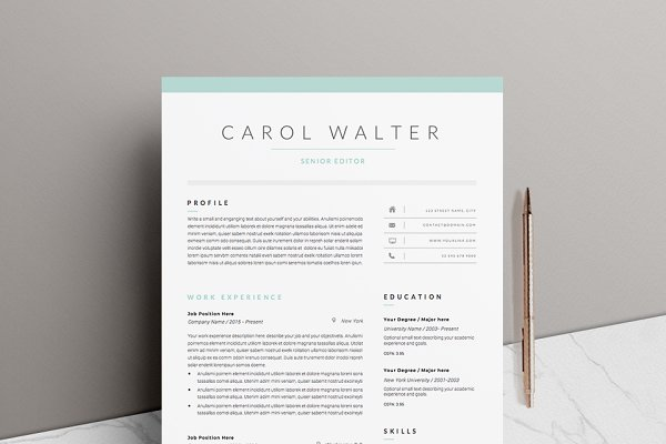 resume templates 5 page - Resume Template Design