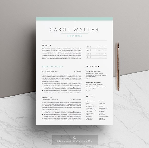 5 page resume template upgrade resume templates creative market