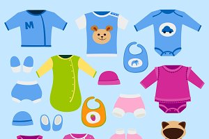 Vector baby clothes icon