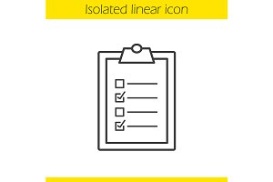 Clipboard checklist icon. Vector