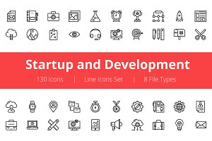 125+ Startup and Development Icons