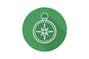 Compass icon. Vector