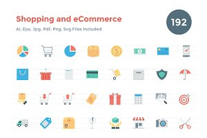 192 Flat Shopping and eCommerce Icon