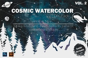 Cosmic watercolor DIY Pack vol.2